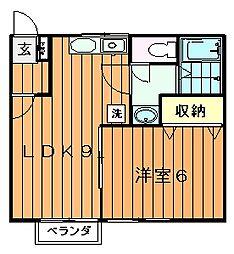 川内ハイツ[1階]の間取り
