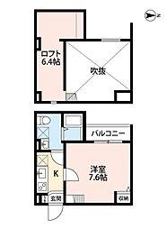兵庫県尼崎市大西町1丁目の賃貸アパートの間取り