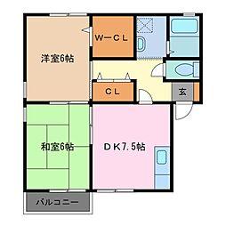ヤマハハイツ白子II[1階]の間取り