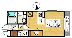 アネスティー[3階]の間取り