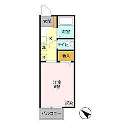 マイステージ21番館[2階]の間取り