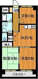 メゾン桜本町[3階]の間取り