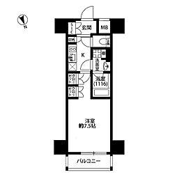 プレール・ドゥーク西浅草[5階]の間取り