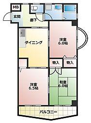 ファミーユワカマツ[4階]の間取り