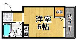 シティコーポ東田辺[4階]の間取り
