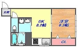 奥野ハイツ[1階]の間取り
