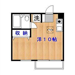 東京都目黒区中央町1丁目の賃貸アパートの間取り