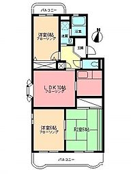サンハイツワタナベ[1階]の間取り