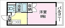 第15正田ビル[4F号室]の間取り