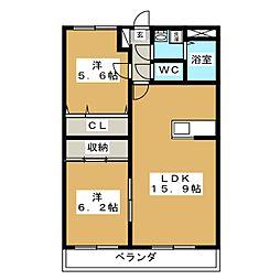 コンフォート鴻之台[3階]の間取り
