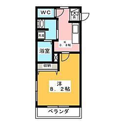 アミティエ草なぎ[3階]の間取り