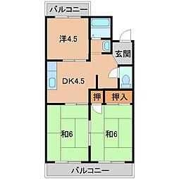 ファミール下兵庫[2階]の間取り