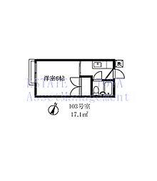 156501 東京園ハイツ[1階]の間取り