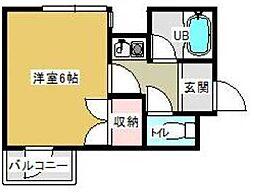 ロイヤルハイツ中川[3階]の間取り