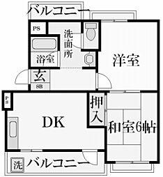 香櫨園ヴァンテカトル[3階]の間取り