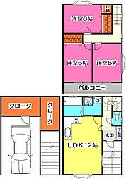 [テラスハウス] 埼玉県所沢市大字上山口 の賃貸【/】の間取り