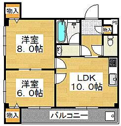 ガーデンヒルOGI[2階]の間取り