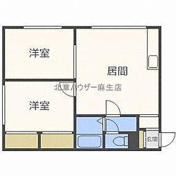 北海道札幌市北区太平十一条4丁目の賃貸アパートの間取り