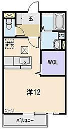 Confort B棟[207号室]の間取り