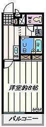 東京都江戸川区西一之江1丁目の賃貸マンションの間取り