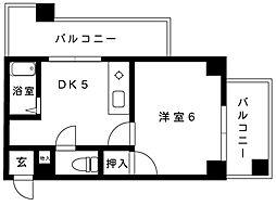 プラム住吉[3B号室]の間取り