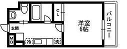 アルペジオ生田[715号室]の間取り