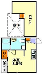 ロワゾブルー七隈[2階]の間取り