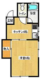 コーポラスチュチュA棟[2階]の間取り