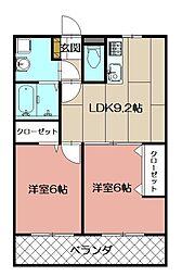 LEONE黒崎南[2階]の間取り