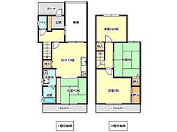 [一戸建] 兵庫県神戸市垂水区塩屋台2丁目 の賃貸【/】の間取り