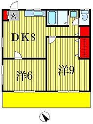 宮内マンション[1階]の間取り