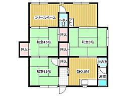 兵庫県神戸市垂水区舞子台6丁目の賃貸アパートの間取り