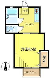 キャッスル八幡山[205号室]の間取り