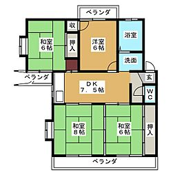 エスタシオンフロール[2階]の間取り