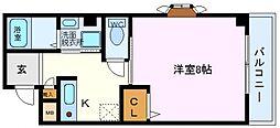ベルシティ鶴見[103号室号室]の間取り