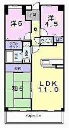 ポプルス高井田[5階]の間取り