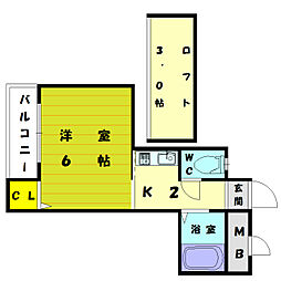 アート21和白丘[2階]の間取り