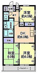 神奈川県川崎市宮前区犬蔵1丁目の賃貸マンションの間取り