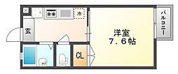 岡山県玉野市玉2丁目の賃貸アパートの間取り