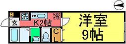 ハイツアヅミノ[203号室]の間取り