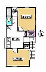 東京都豊島区南長崎3丁目の賃貸アパートの間取り