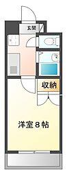 UniverCity築地A館[117号室]の間取り