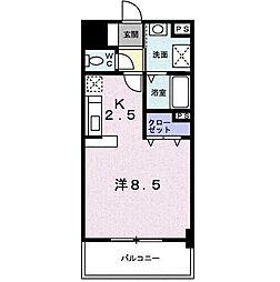 ロイヤルビーズ駅南[2階]の間取り