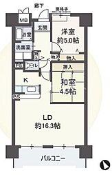 アメニティ江戸堀[6階]の間取り