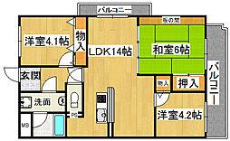 カサベルデ田伏3[5階]の間取り
