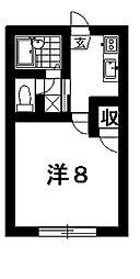 エクセルコーポ[1階]の間取り