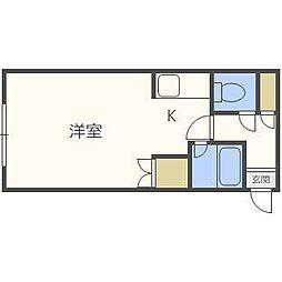 北海道札幌市東区北二十一条東17丁目の賃貸マンションの間取り