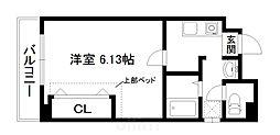 京阪本線 東福寺駅 徒歩3分の賃貸マンション 1階1Kの間取り