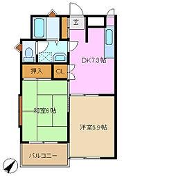 ベルシェモトナ[2階]の間取り