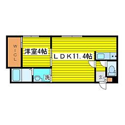 札幌市営東豊線 東区役所前駅 徒歩7分の賃貸マンション 1階1LDKの間取り